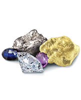 Sparkling stones and precious metal